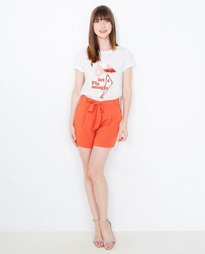 T-shirt met flamingoprint